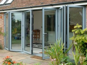 A bifolding patio door