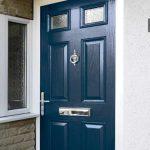 Composite front door in blue