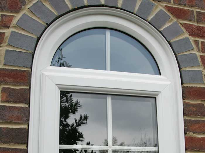 Custom shape window in white uPVC