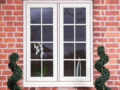 Timber effect traditional style windows