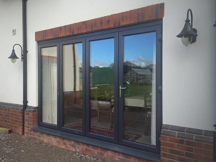 New wave folding doors in black