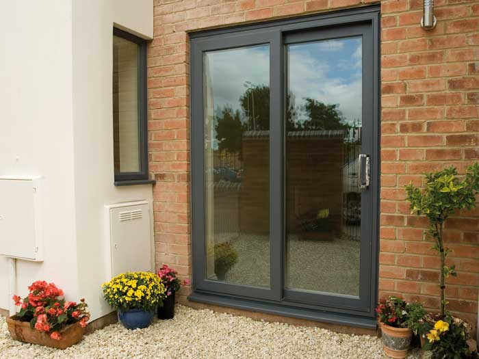 Sliding patio doors in black-modern patio doors