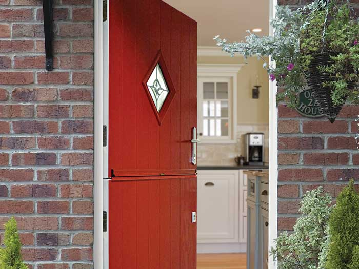 Red stable door-modern patio doors