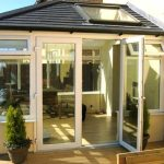 Tiled replacement conservatory roof in grey - extension