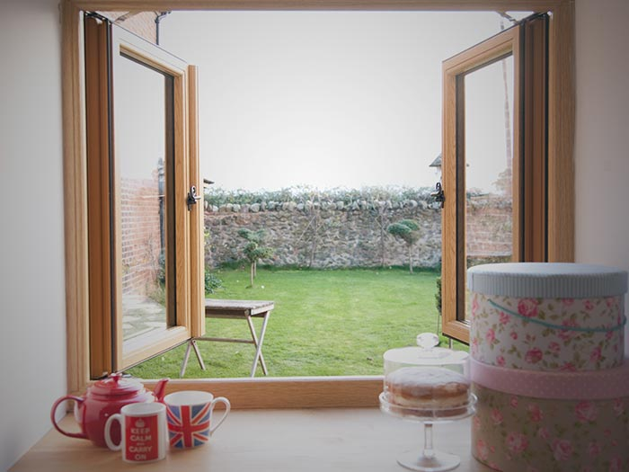 uPVC windows that look like timber