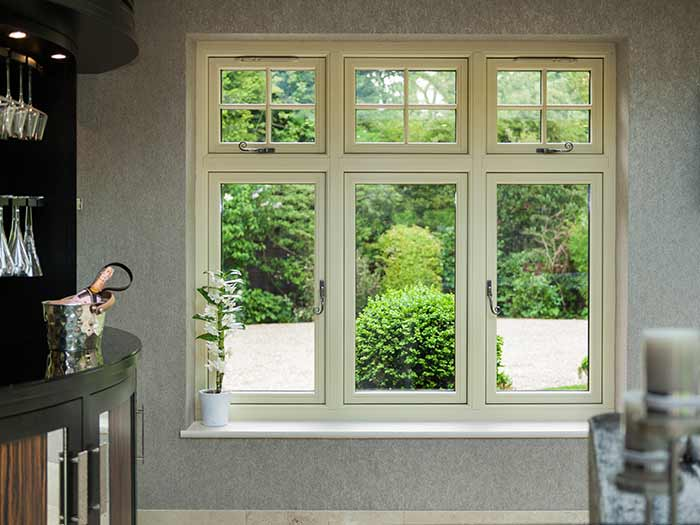 Timber look residence 9 uPVCperiod windows with traditional hardware