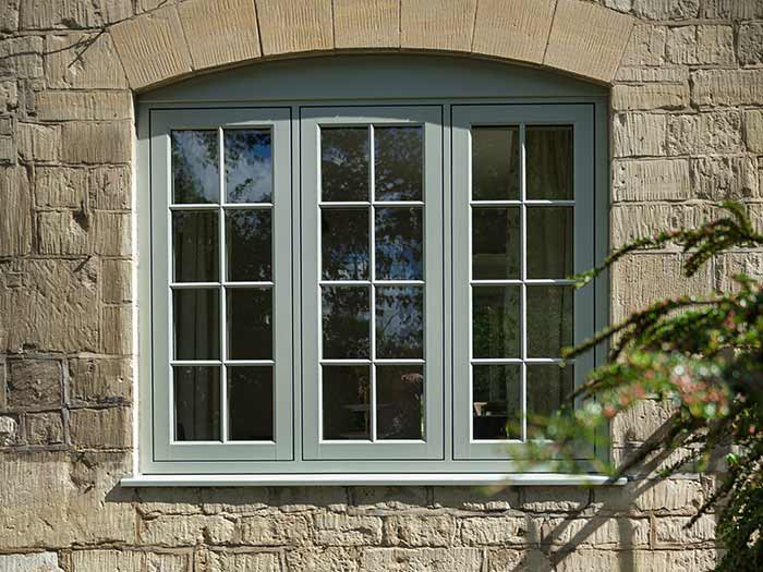 Traditional style uPVC flush sash windows