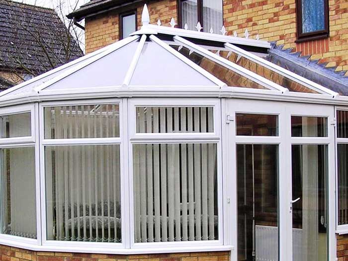 Victorian glass conservatory roof