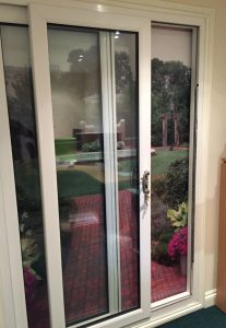 Sliding patio doors at our showroom