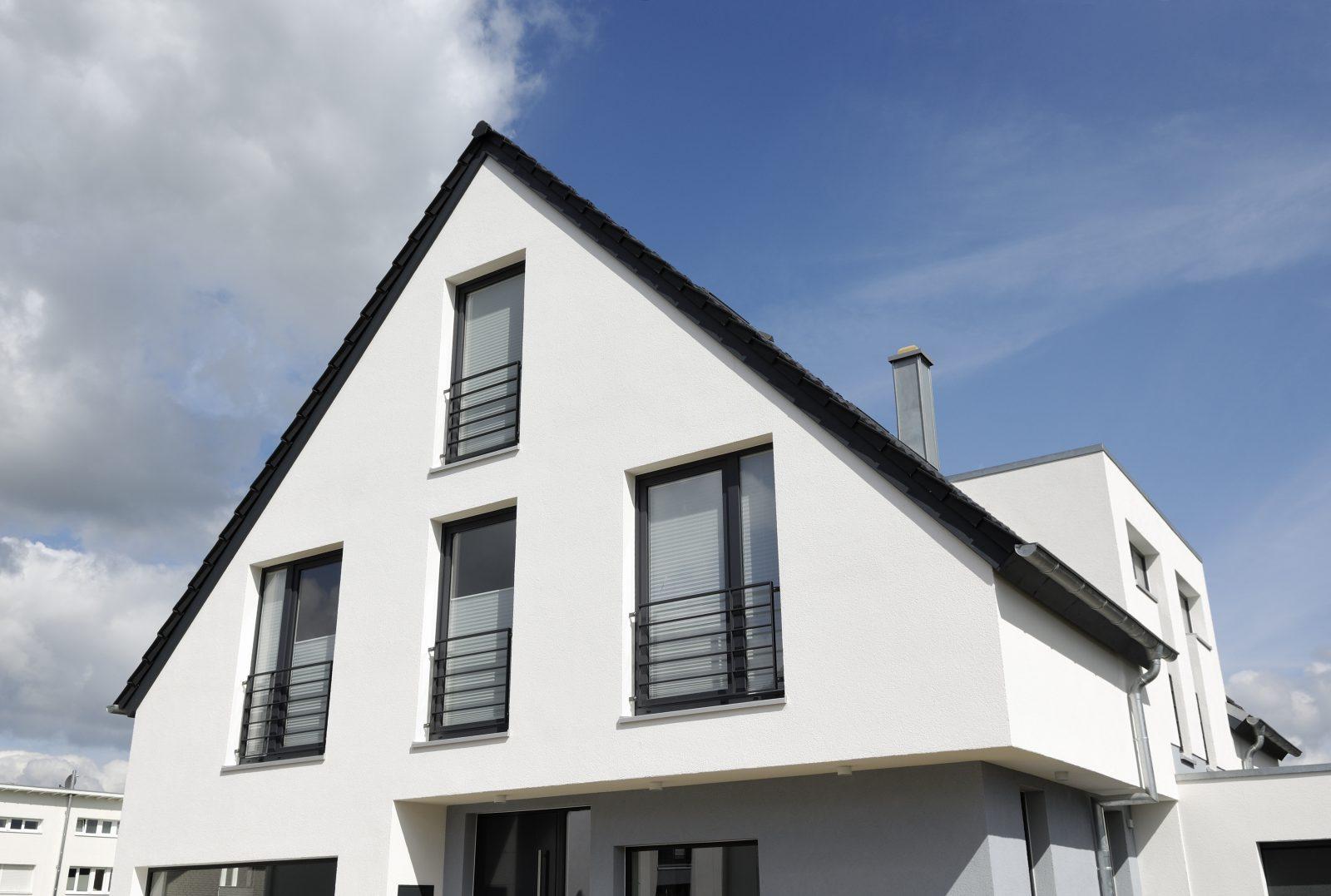Black aluminium windows modern