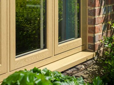Timber effect window with flush sash for an authentic look