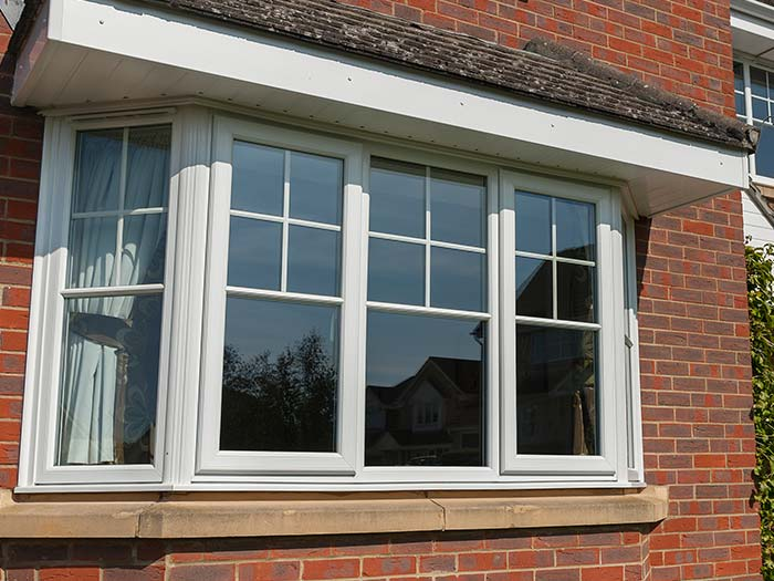 White uPVC heritage style windows