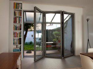 aluminium bifold door to exterior of home