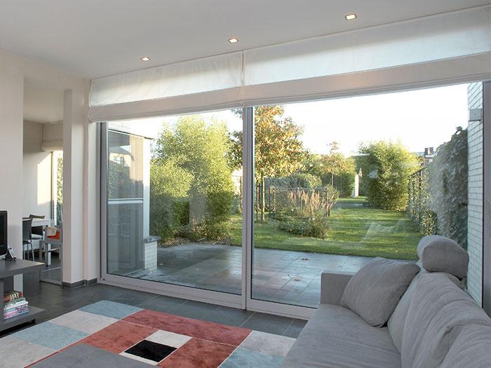 aluminium grey patio doors