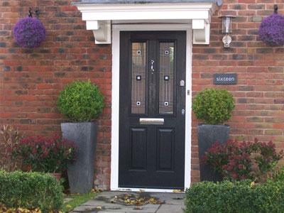 Black composite solidor door