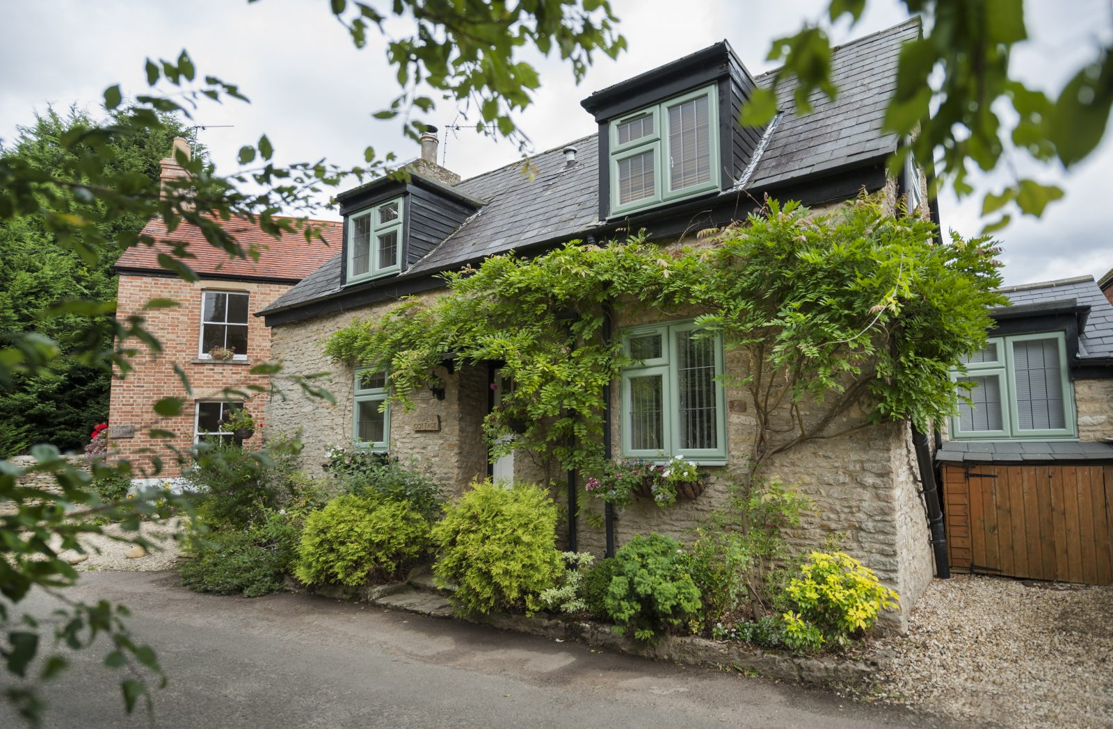 chartwell green windows on cottage