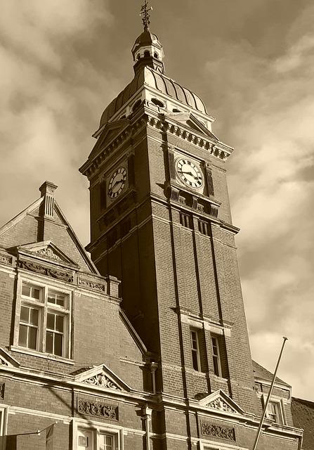 Sky clock tower Swindon