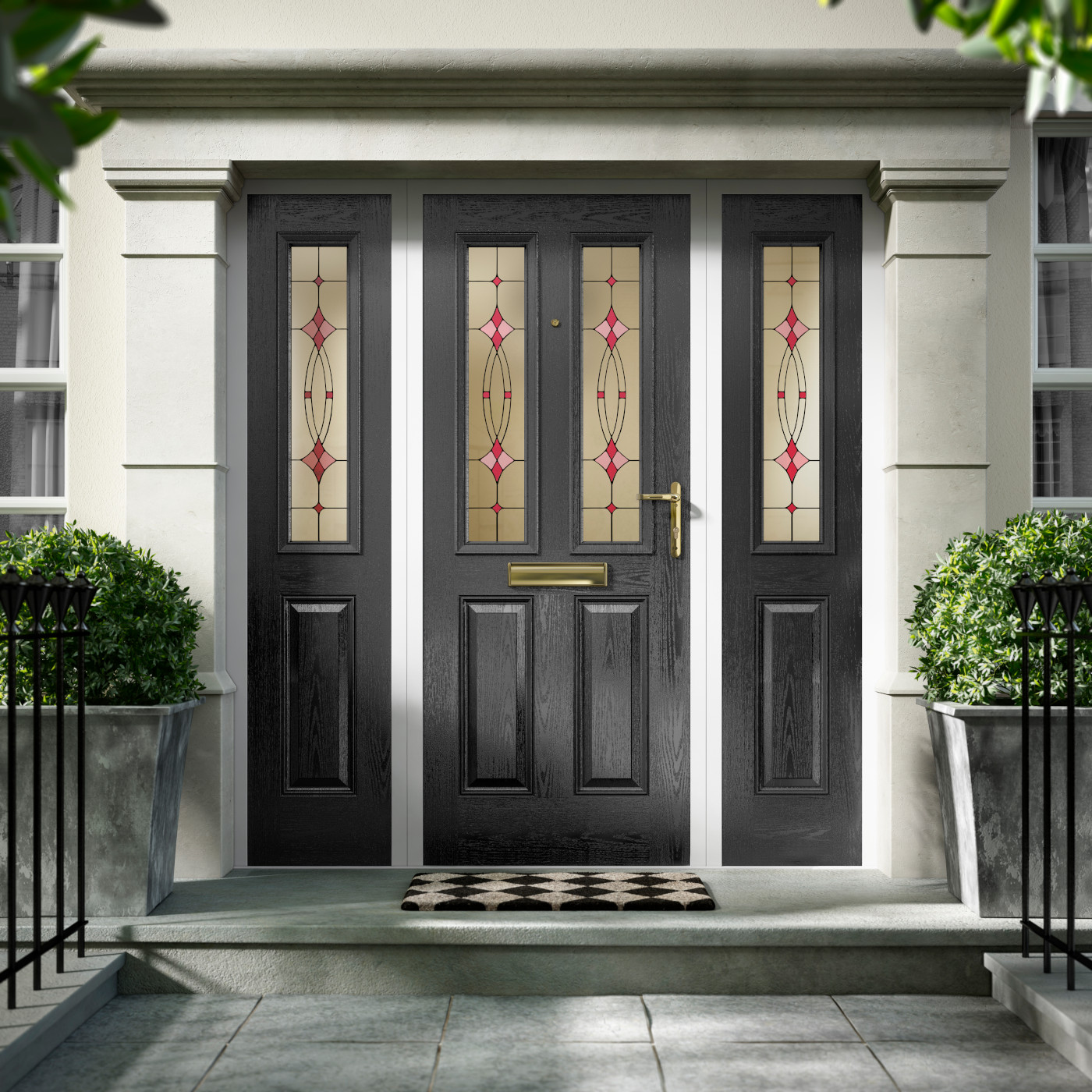 Black Composite Doors Emerald Windows