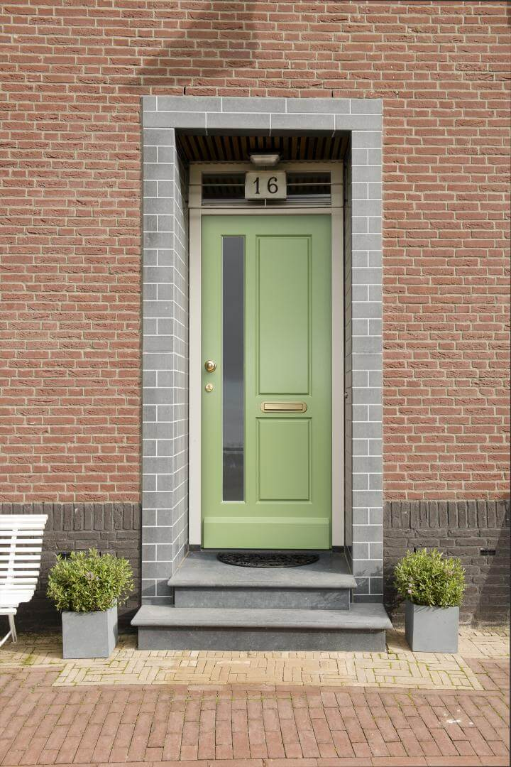 Chartwell Green timber front door