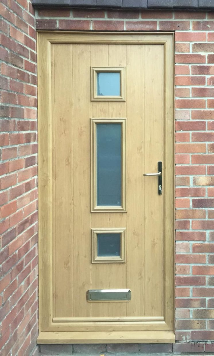 Irish oak entrance door