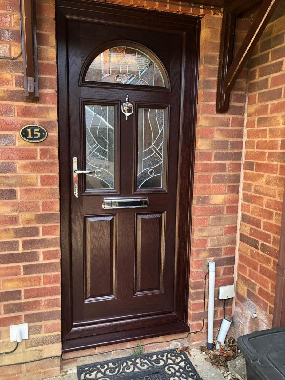 composite front door in Rosewood