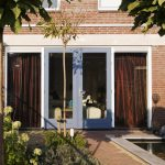 Weekamp timber french doors in blue