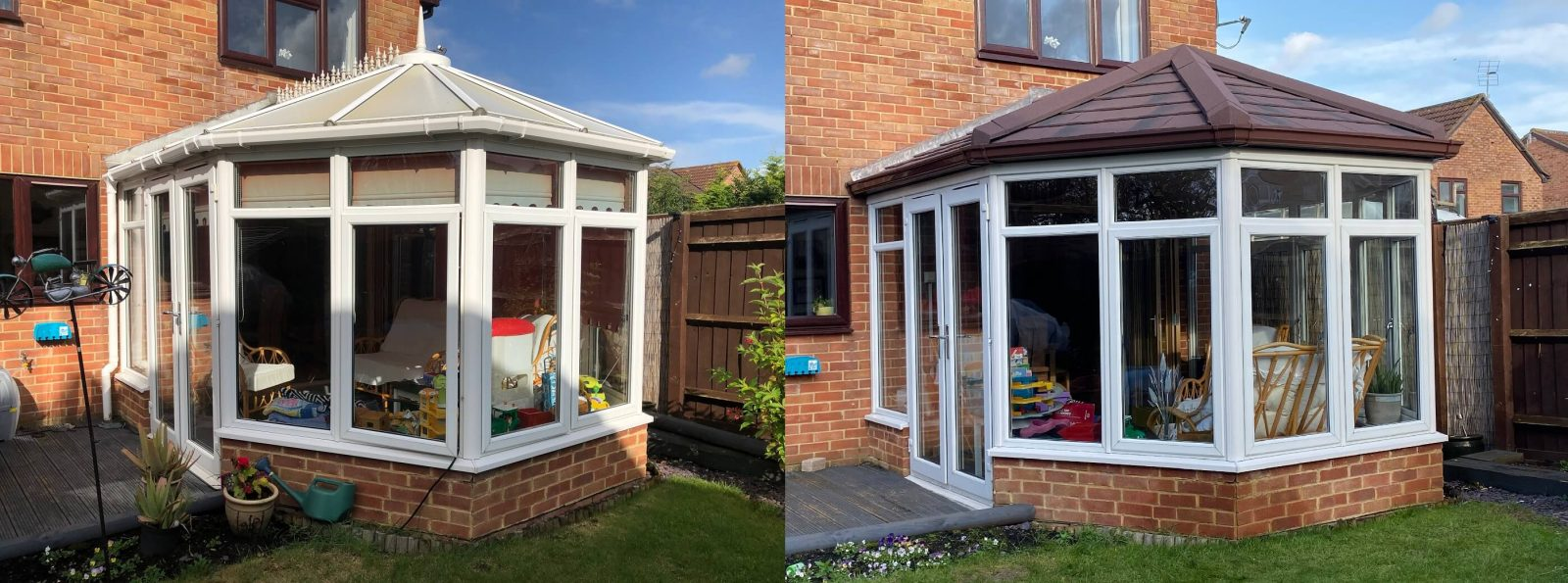 Guardian warm roof before and after