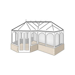 Conservatory style - P shaped