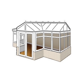 Conservatory style - T-shaped