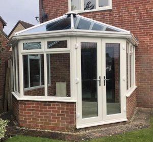 cream brick conservatory