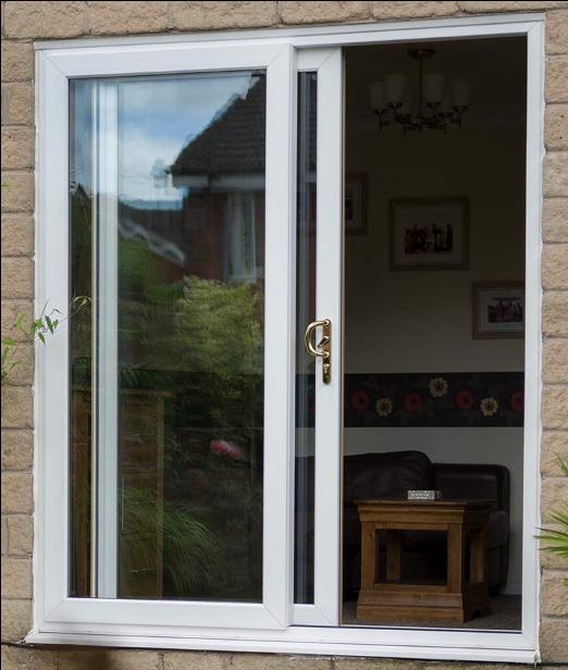 white sliding doors