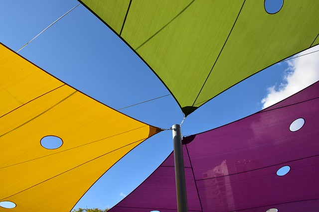 colourful awnings