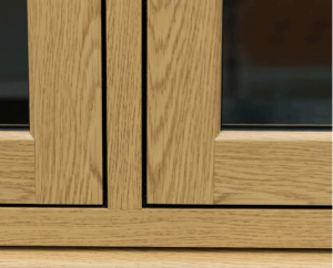 Close up of flush sash window