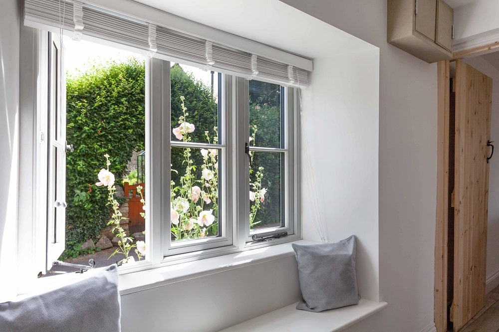 Residence 9 Windows installed in heratage building in Swindon with window seat.